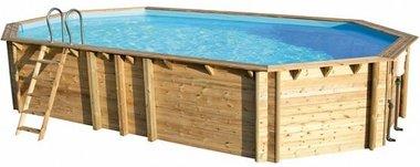 Weva houten zwembad rond/ovaal - Helaas, niet meer leverbaar in 2021