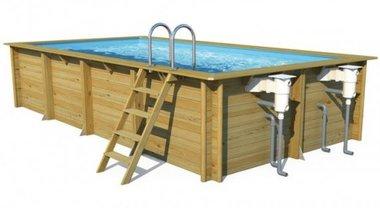 Weva houten zwembad rechthoekig - Helaas, niet meer leverbaar in 2021