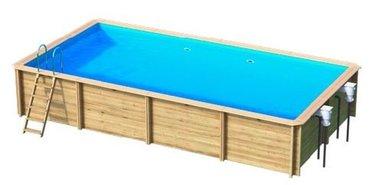 Odyssea houten zwembad rechthoekig - Helaas, niet meer leverbaar in 2021