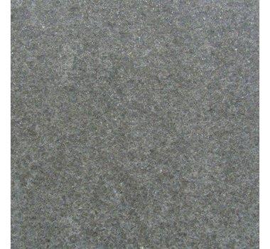 Bella Black granieten randtegel met ronde neus