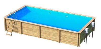 Odyssea houten zwembad rechthoekig