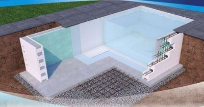Polystyreen blokken bouwkundig zwembad